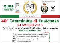 Campionato Nazionale UISP Km. 10 su strada<br>24 maggio 2015 – 40° Camminata di Castenaso